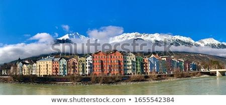 Historic street of Innsbruck panoramic view Stock photo © xbrchx