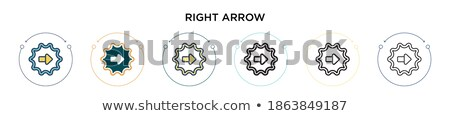 Two arrows in circle linear icon for websites, mobile, app, ui minimalistic flat design. vector illu Stock photo © kyryloff