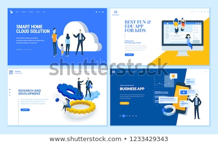 Web page template of business apps. Smart home cloud solution. Modern vector illustration concept fo Stock photo © ikopylov