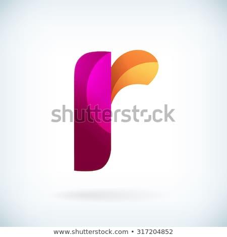 abstract · iconen · letter · r · ontwerp · oranje · teken - stockfoto © blaskorizov