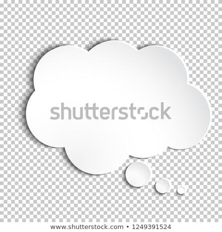 思考バブル · 話し · レトロな · 思考 · 図面 · 漫画 - ストックフォト © blaskorizov