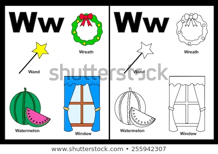 w is for educational game coloring book stock photo © izakowski