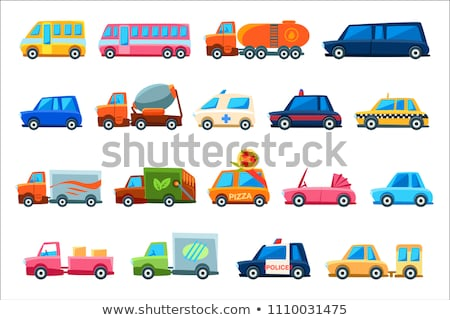 set of truck with different colour stock photo © colematt