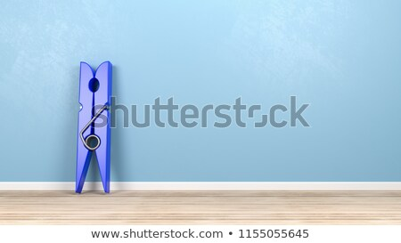 Clothespin on Wooden Floor Against Wall Stock photo © make