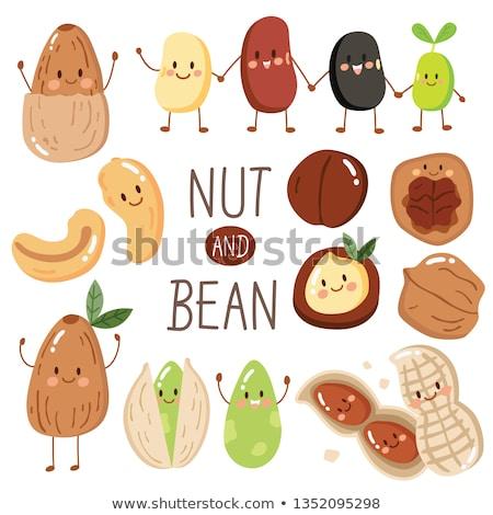 vector set of beans cartoon stock photo © olllikeballoon
