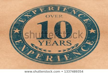 Competente persona società 10 anni esperienza Foto d'archivio © olivier_le_moal