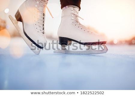 Vorbereitung Weihnachten Feiertage Eislaufen Text Plakate Stock foto © robuart
