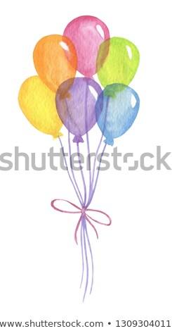 ajándék · buli · léggömbök · fehér · háttér · születésnap - stock fotó © creisinger