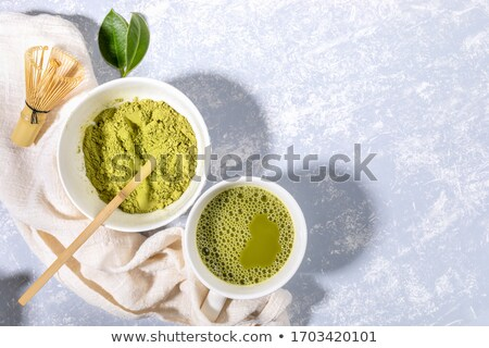 matcha powder on wooden background homemade matcha stock photo © galitskaya