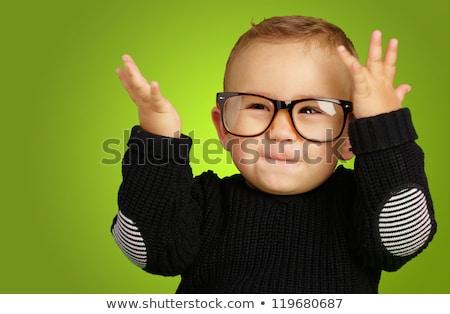 Zielone odzież okulary zestaw chłopca różny Zdjęcia stock © toyotoyo