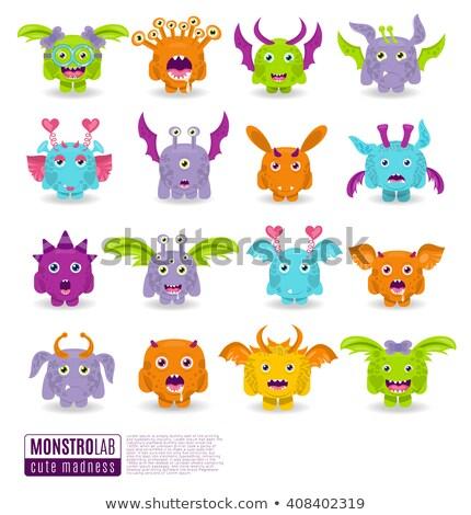 Cartoon Monster and Alien Characters large set Stock photo © izakowski