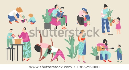 Aile birlikte anne çocuk annelik vektör Stok fotoğraf © robuart