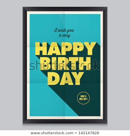 vektor · születésnap · sapkák · konfetti · buli · háttér - stock fotó © robuart