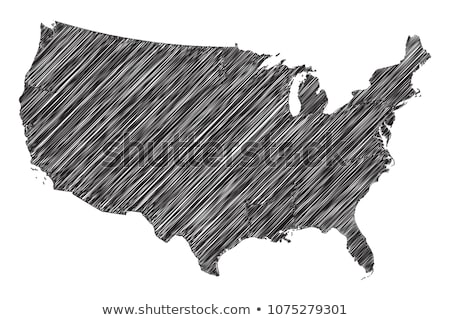Scribble map of United States of America. Sketch Country map black for infographic , brochures and p Stock photo © kyryloff