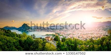 Lac Suisse vue eau nature paysage Photo stock © borisb17