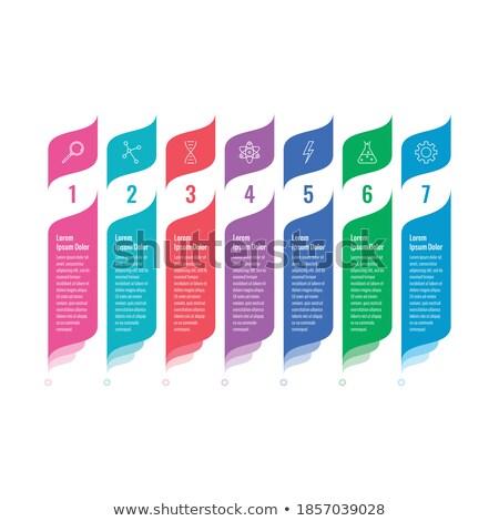 Estratégia de marketing bandeira laptop foguete lupa gráficos Foto stock © Genestro