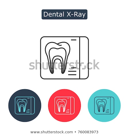 dental x ray image stomatology vector sign icon stock photo © pikepicture
