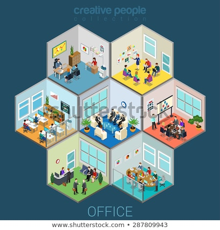 Isometrica creatività persone business icone digitale Foto d'archivio © frimufilms