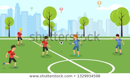 piłka · nożna · wychowanie · fizyczne · lekcja · dzieci · szkolenia · piłka · nożna - zdjęcia stock © matimix