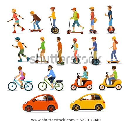 Eco Transportation, Bicycles and Scooters Boards Stock photo © robuart