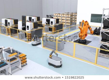 Robot karok öv számítógép háttér doboz Stock fotó © Wetzkaz