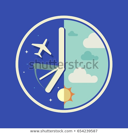Airplane Flight Time Illustration Stock photo © lenm