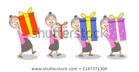 старушку празднование дня рождения ребенка женщину Сток-фото © Decorwithme