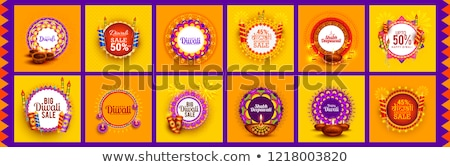 happy diwali festival crackers banner with text space Stock photo © SArts