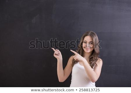 hoogleraar · wijzend · vinger · onderwijs · studenten · portret - stockfoto © majdansky
