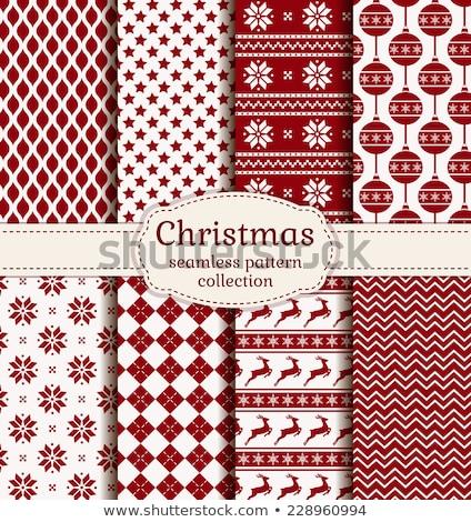 karácsony · ünnep · végtelenített · minták · szezonális · szett · boldog · új · évet - stock fotó © margolana