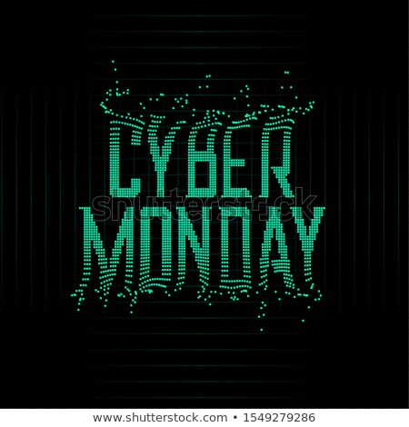 futuristic style cyber monday particles background design stock photo © SArts