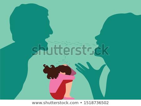 Girl Domestic Abuse Verbal Illustration Stock photo © lenm