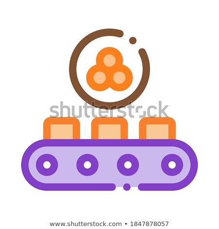 Caviar Conveyor Icon Vector Outline Illustration Stock photo © pikepicture