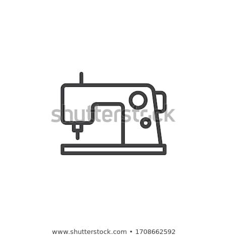 Naaimachine icon vector schets illustratie teken Stockfoto © pikepicture