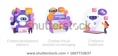 Chatbot technology development vector concept metaphors. Stock photo © RAStudio