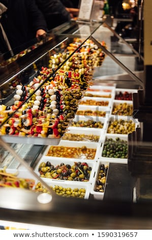 Luxurious selection of tapas. traditional small portion snacks in Spain. in San Miguel tapas bar Stock photo © ruslanshramko