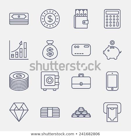 Bavul çanta durum dolar sikke vektör Stok fotoğraf © pikepicture