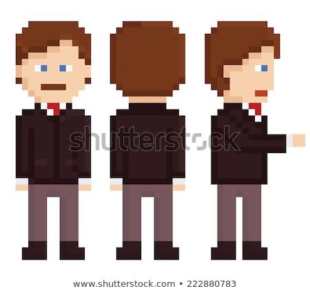Pixel Character Businessman Pixelated Graphics Stock photo © robuart