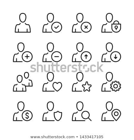 Como masculina avatar icono vector Foto stock © pikepicture