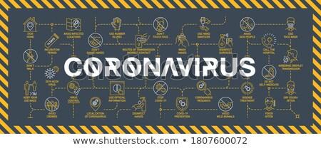 Coronavirus symptoms idea - line design style banners Stock photo © Decorwithme