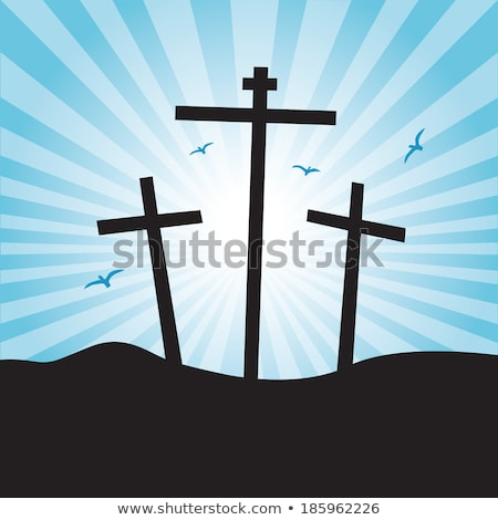 easter day and good friday scene with three cross Stock photo © SArts