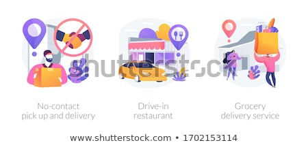 Safe way to get food and essentials abstract concept vector illustrations. Stock photo © RAStudio