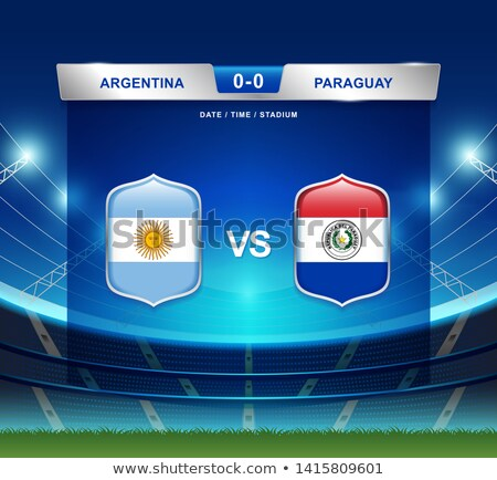 Argentinië vs Colombia voetbal wedstrijd illustratie Stockfoto © olira