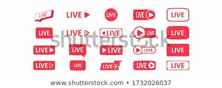 Online movie flat logo template Stock photo © barsrsind