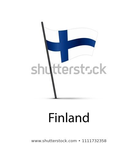 Finlandia banderą słup biały Zdjęcia stock © evgeny89