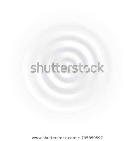 Yoghurt Dairy Creamy Dessert Food Top View Vector Stock photo © pikepicture