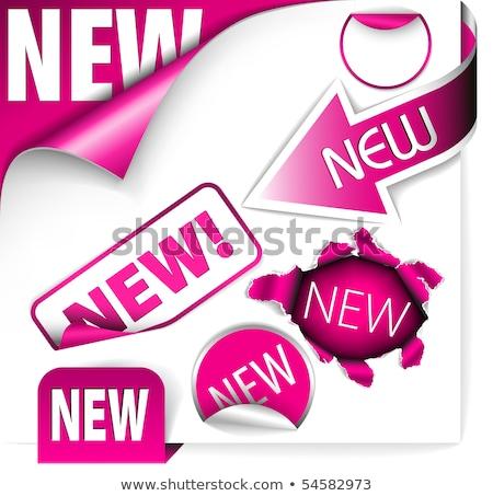 Vers paars lint papier bladwijzer nieuwe Stockfoto © orson