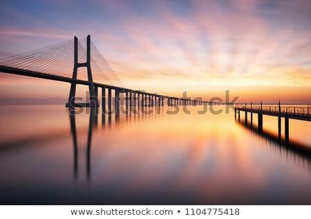 Gama ponte Lisboa cidade água edifício Foto stock © cla78