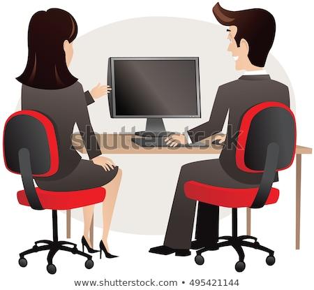 altos · profesional · mujer · sesión · escritorio · retrato - foto stock © dacasdo