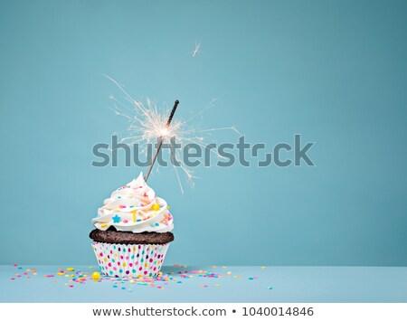 fancy birthday cupcake stock photo © aladin66